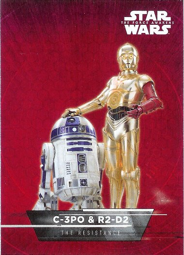 2015 Topps Star Wars The Force Awakens Sticker #16 C-3PO & R2-D2