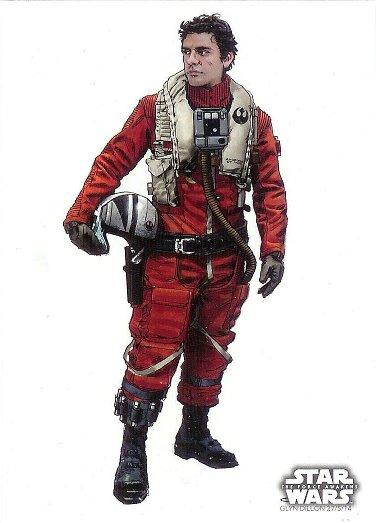 2015 Topps Star Wars The Force Awakens Concept Art #18 Poe Dameron