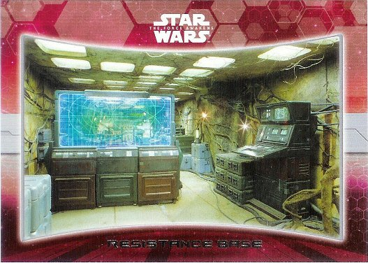 2015 Topps Star Wars The Force Awakens                 Locations  #7                 Resistance base image