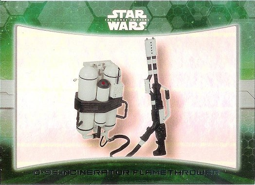 2015 Topps Star Wars The Force Awakens Weapons Foil #3 D-93 Incinerator Flamethrower