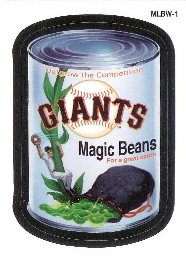 2016 Topps MLB Wacky Promos #MLBW-1 Giants Magic Beans